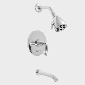 1700 Pressure Balanced Tub and Shower set with Prana handle (available as trim only P/N: 1.179268DT)