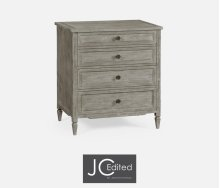 Small Chest of Drawers in Rustic Grey
