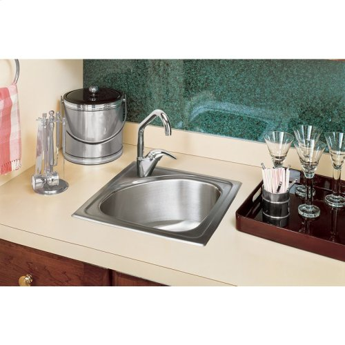 "Elkay Lustertone Classic Stainless Steel 15"" x 15"" x 6-1/2"", Single Bowl Drop-in Bar Sink"