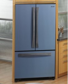 "Preference 36"" French Door, Freestanding Cabinet-Depth Bottom Freezer Refrigerator in Titanium Silver"