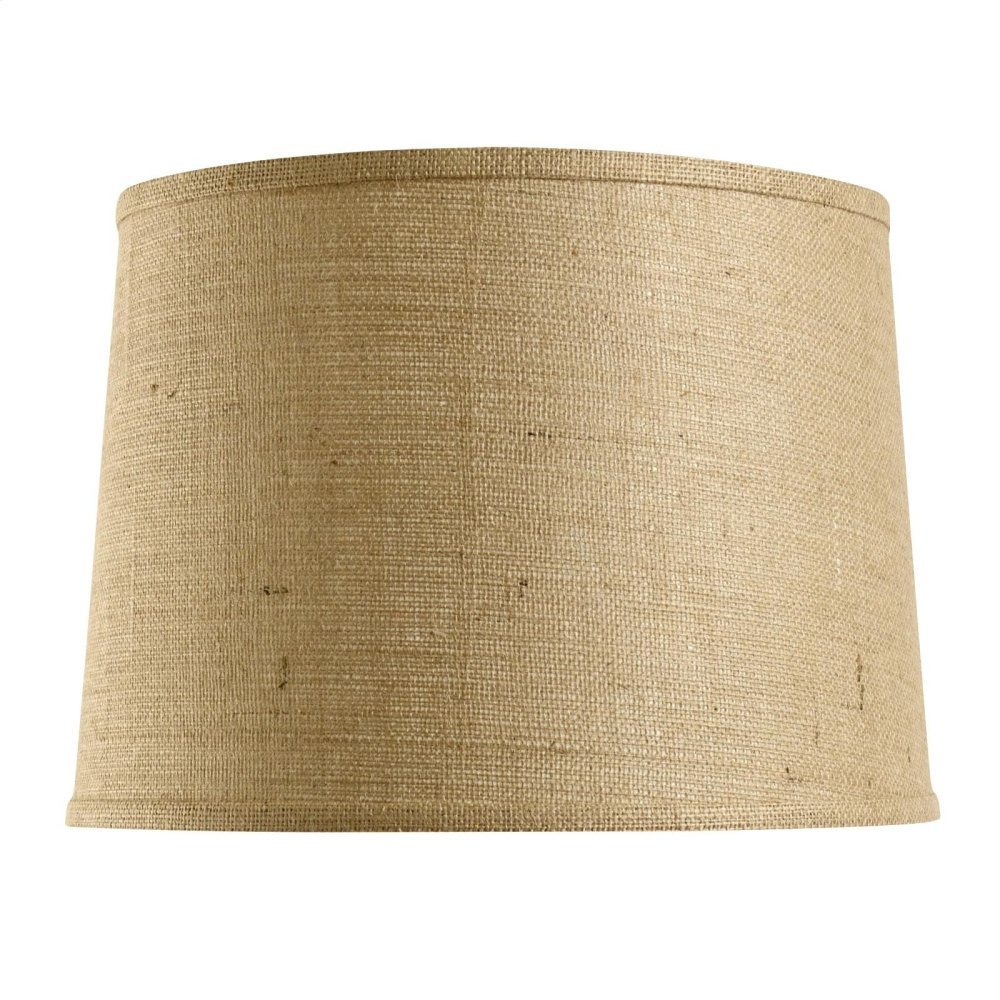 Shade 17-inch with Nickel, Burlap