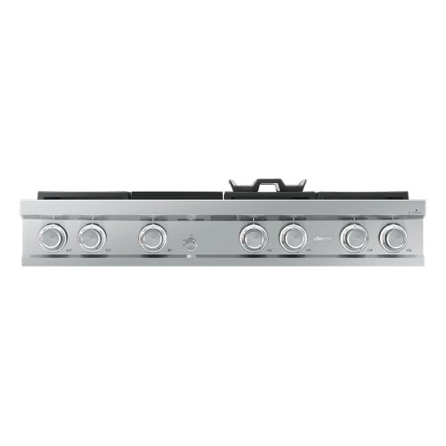 "Modernist 48"" Rangetop, Silver Stainless Steel, High Altitude Natural Gas"