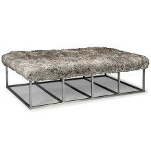 Metal Cocktail Ottoman
