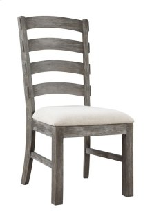 Side Chair Slat Back Upholstered Seat Set Up
