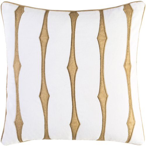 "Graphic Stripe GS-002 18"" x 18"" Pillow Shell with Polyester Insert"