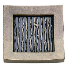 Primitive Square Knob 1 1/2 Inch - Burnished Bronze