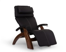 Perfect Chair PC-420 Classic Manual Plus - Black Top-Grain Leather - Walnut