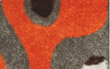 Shaggy rug, orange and Grey color