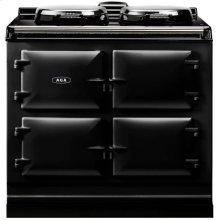 Black AGA Dual Control 3-Oven All Electric