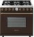 Additional Range DECO 36'' Classic Brown matte, Bronze 6 gas, gas oven