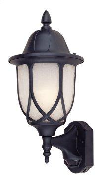 "9"" Wall Lantern - 3-in-1 Motion Detector in Black"