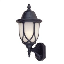 "9"" Wall Lantern - 3-in-1 Motion Detector in Black"