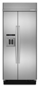 20.8 cu ft 36-Inch Width Built-In Side-by-Side Refrigerator with PrintShield™ Finish - Stainless Steel Product Image