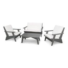 Slate Grey & Natural Riviera Modern Lounge 4-Piece Set