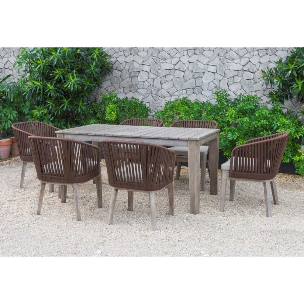Renava Fiji Outdoor Brown Dining Table Set