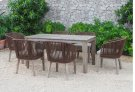 Renava Fiji Outdoor Brown Dining Table Set Product Image