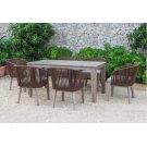 Renava Fiji Outdoor Brown Dining Table Set Product Image