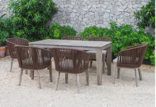 Renava Fiji Outdoor Brown Dining Table Set