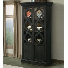 Corinne - Display Cabinet - Ebonized Acacia Finish