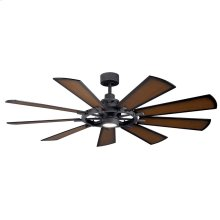 "Gentry LED 65"" Fan Distressed Black"