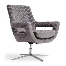Fifi Grey Striped Swivel Chair