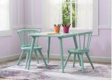 Windsor Table & 2 Chair Set - Aqua (347)