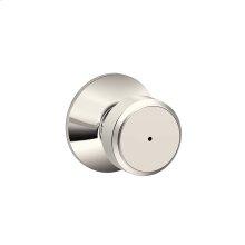 Bowery Knob Bed & Bath Lock - Polished Nickel