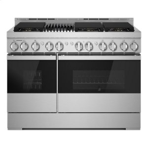 "JennAirNOIR 48"" Gas Professional-Style Range with Grill"
