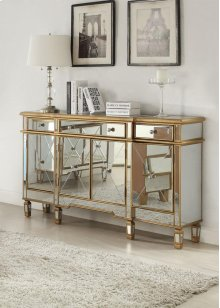 Gold and Mirrored 3 Drawers 4 Doors