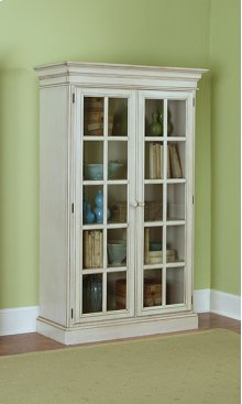 Pine Island Large Library Cabinet - Old White