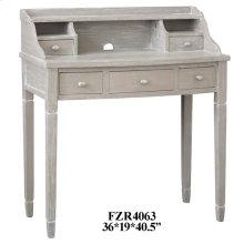Darcy Burnished Grey 5 Drawer Powered Accent Desk