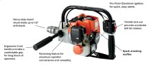 Portable drilling power useful for many applications.