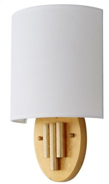 Darlene Wall Sconce - Gold Shade Color: Off-White
