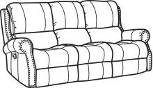 Miles Fabric Reclining Sofa