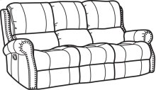 Miles Fabric Reclining Sofa
