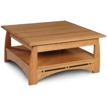 "Aspen Square Coffee Table with Inlay, Aspen Square Coffee Table with Inlay, Lift Top, 36""x36"""
