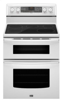 6.7 cu. ft. capacity double oven electric range with Dual-Choice element