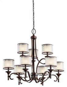 Lacey 9 Light Chandelier Mission Bronze