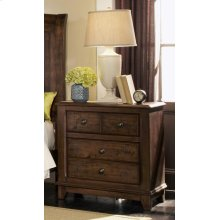 Laughton Rustic Two-drawer Nightstand