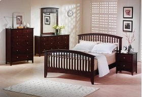 Includes: 5/0 Bed, Dresser, Mirror & Chest