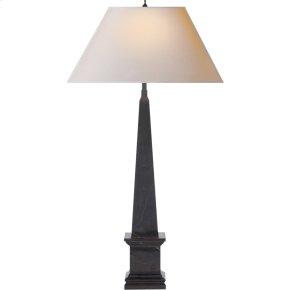 Visual Comfort AH3049BM-NP Alexa Hampton Vivien 28 inch 40 watt Black Marble Decorative Table Lamp Portable Light