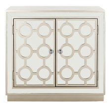 Kaia 2 Door Chest - Champagne / Nickel / Mirror