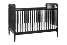 Black Liberty 3-in-1 Convertible Spindle Crib with Toddler Bed Conversion Kit
