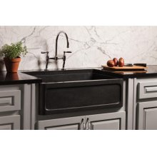 New Haven Farmhouse Sink Honed Basalt