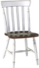 Cottage Chair Alabaster & Espresso Product Image