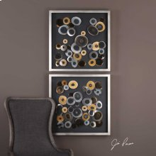 Discs Square Shadow Boxes, S/2