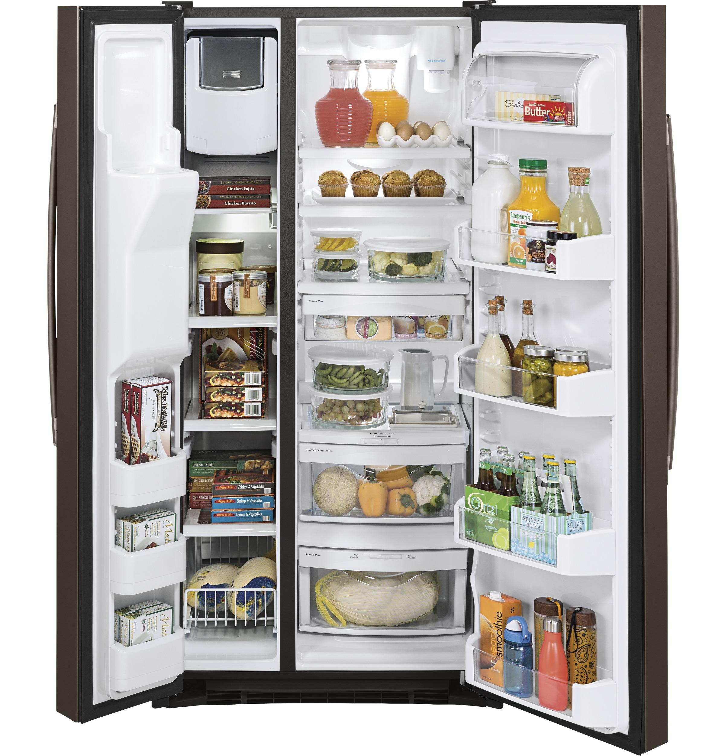 Gss23hmhes Ge 174 23 2 Cu Ft Side By Side Refrigerator