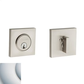 Satin Chrome Contemporary Square Deadbolt