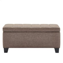 Lila Storage Ottoman in Brown