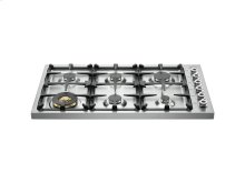 36 Drop-in Cooktop 6-burner Stainless